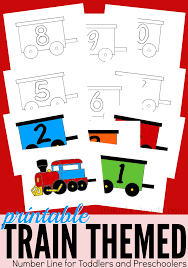 printable train themed number line from abcs to acts