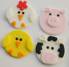 12 farm animal cupcake toppers by sugarsweetsntreats on etsy https
