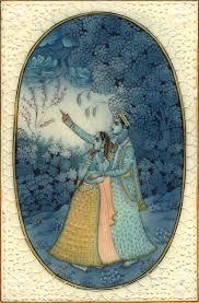 radha krishna miniature hindu painting handmade indian religious