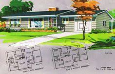 1960s ranch house plans 1960s ranches and l shaped homes vintage house plans pinterest