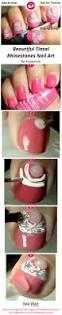 beautiful tinsel rhinestones nail art nail art gallery step by