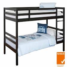 Timber Bunk Bed Murray Solid Rubberwood Timber Bunk Bed Single Black 459 00