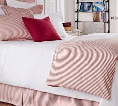 classic ticking stripe duvet cover u0026 sham