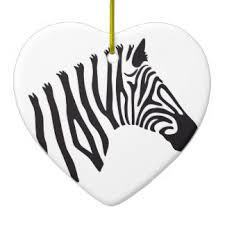 zebra ornaments keepsake ornaments zazzle