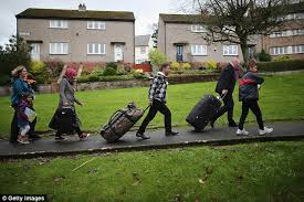 why are syrian refugees being sent to a scottish island with high