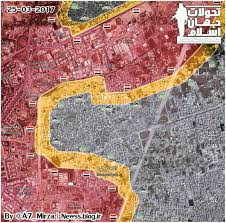 Uri Map Situation In Area Of Jobar In Eastern Damascus Map Update