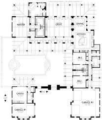 style house plans with interior courtyard interior courtyard house plans plan center courtyard