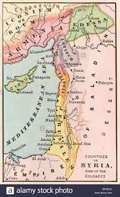 Mid East Map Map Of The Middle East Empire Of Saladin At The Time Of The