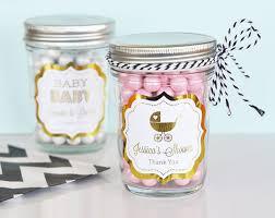 Mason Jar Baby Shower Ideas Items Similar To Pink And Gold Baby Shower Mason Jar Favors Pink