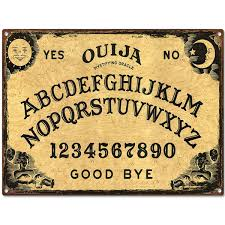 ouija board fortune telling game metal sign game room decor