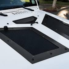 jeep hood vents black cobra hood vents louver for 07 17 jeep wrangler jk skull