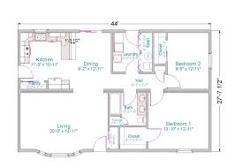 sq ft house plans open floor plan gallery 2 bedroom bath ranch