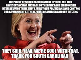South Carolina Memes - hillary south carolina imgflip