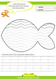 kids under 7 alphabet worksheets trace and print letter f