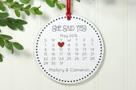 just engaged christmas ornament engagement gift wedding