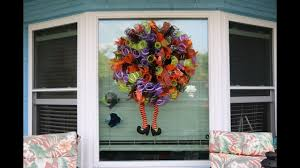 halloween spiral mesh wreath tutorial youtube