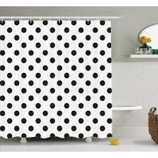 Grey And White Polka Dot Curtains Polka Dot Shower Curtains You U0027ll Love Wayfair