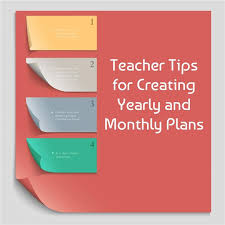 how to create monthly and yearly plans for the classroom includes