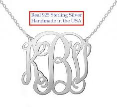 Sterling Silver Monogram Bracelet Monogram Necklace Bettyzdesigns