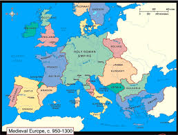 Map Of Southern Europe by Map Of European States During Medieval Period 950 U2013 1300 Ce