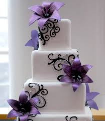 purple and white wedding purple wedding cakes ideas