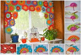 Crochet Valance Curtains Crochet Flower Curtain Tutorial Nrtradiant Com