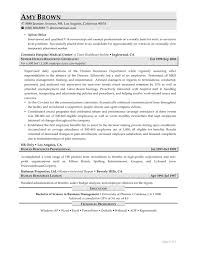 Profile On Resume Hr Resume Samples Resume For Your Job Application