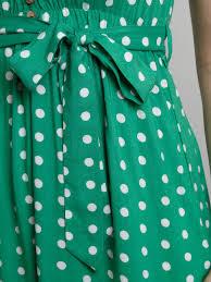izabel london polka dot dress in green lyst