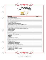 wedding day planner the wedding planner schedule worksheet is a detailed template and
