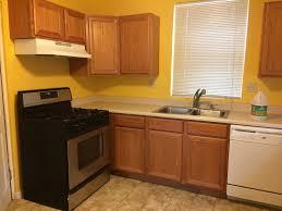 oak kitchen cabinets yellow walls kitchen design minty vintage flippinwendy