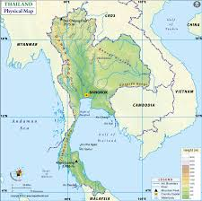 map of thailand map of thailand