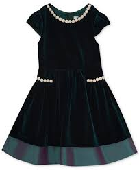 rare editions velvet party dress toddler girls 2t 5t created