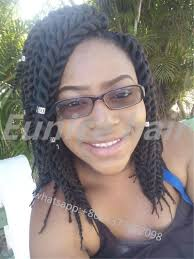 Great Lengths Hair Extensions San Diego by Synthetic Havana Mambo Crochet Twists Black Braided