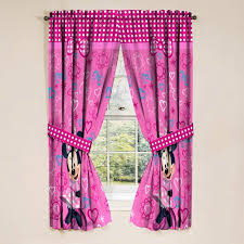 bedroom curtains at walmart minnie mouse girls bedroom curtains set of 2 walmart com