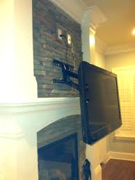mounting tv over gas fireplace fireplace mounted hide wires mount above fireplace no studs install flat