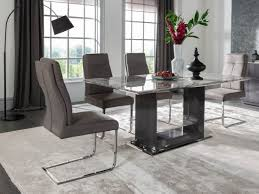 livingroom table ls donatella raphael 160cm grey marble dining table 4 chairs dta 160