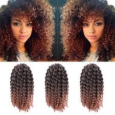 human curly hair for crotchet braiding 3pcs pack 10 afro kinky twist hair crochet braids ombre braiding