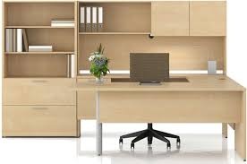 Ikea Office Ideas by Home Office With A Grey Desk Bookcases And A Swivel Chair With