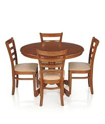Solid Wood Furniture Online India Royaloak Dining Table Set With 4 Chairs Solid Wood Natural Buy