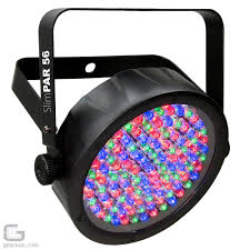 chauvet slimpar 56 dj rgb led par can light package with controller