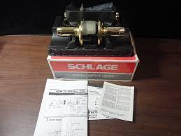 schlage f10n 89 fla 605 passage latch brass door handle new for