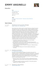 Product Development Manager Resume Sample by Marketing U0026 Communications Manager Resume Samples Visualcv