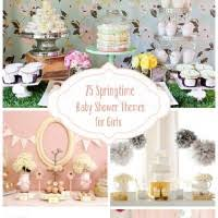 baby shower themes for girl 25 springtime baby shower themes for