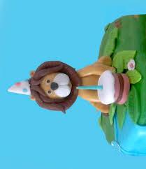 lion cake topper fondant lion cake topper birthday lion blowing his cake