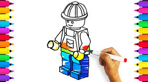 coloring for kids how to draw a lego city workers drawing and