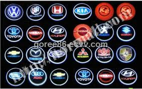 second generation new coming sale 3d logo car led lights laser