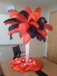 Wedding Feathers Centerpieces by Red And Black Ostrich Feathers Feather Centerpieces Ostrich