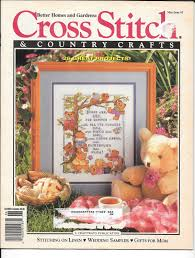 cross stitch u0026 country craft magazine vintage embroidery wedding