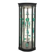 Corner Curio Cabinets Walmart by Lighted Curio Cabinet Hexagonal Lighted Curio Cabinet 2corner