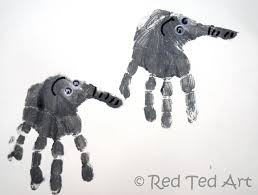 handprint alphabet e is for elephant red ted art u0027s blog